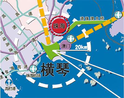横琴新区位于广东省珠海市横琴岛
