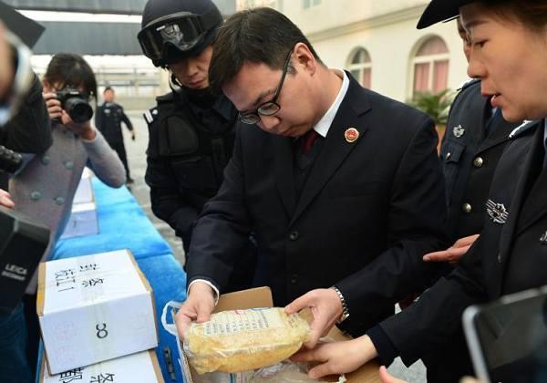 """湖北宜昌""""无害化""""公开销毁32余公斤毒品"""