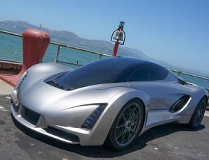 全球首辆3D打印超级跑车 百公里加速仅两秒
