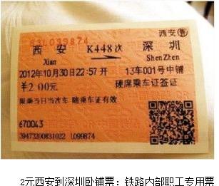 西安到深圳卧铺票2元:垄断行业如此内部福利是否可