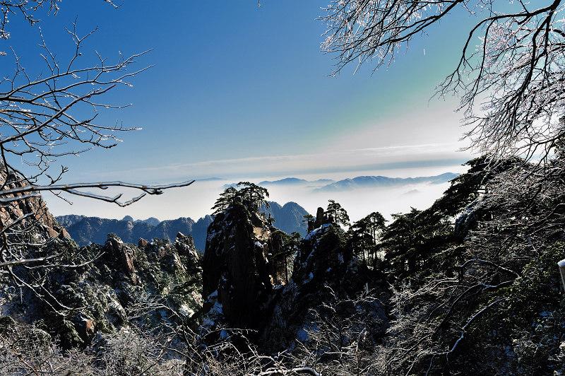 紫蓬山风景区雪景惹人醉