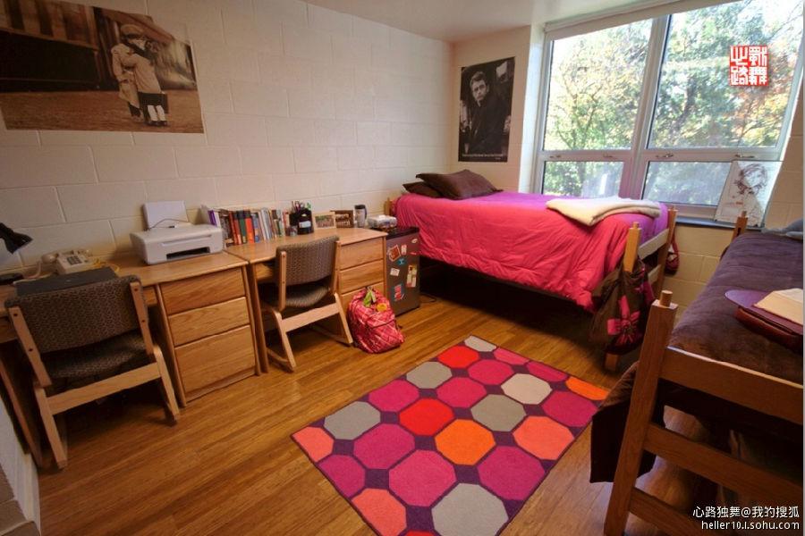 实拍美国大学宿舍――舒适豪华