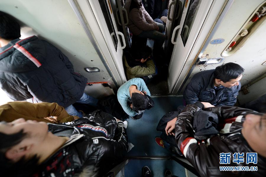 乘坐30多个小时的火车达到重庆