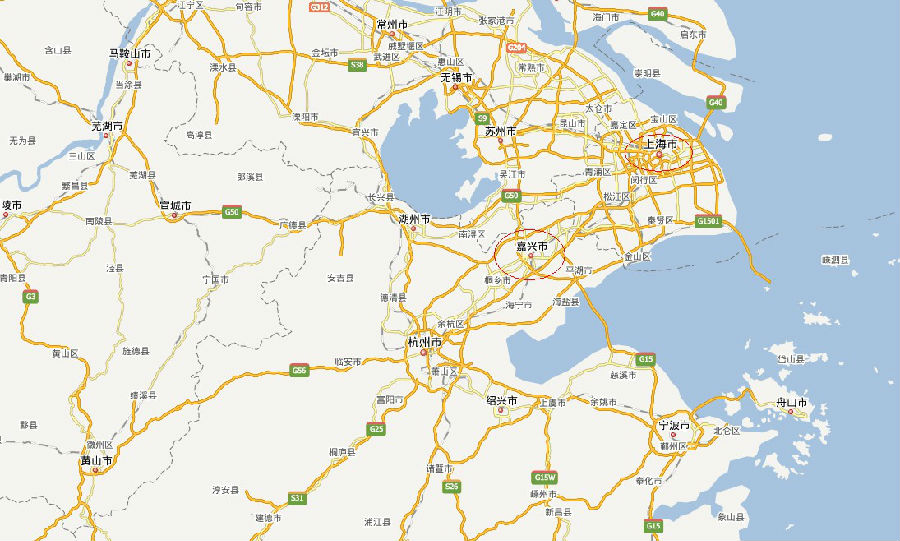 上海,嘉兴的地理位置