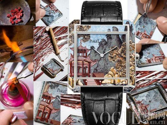 表盘上的艺术拼接 马赛克微砌腕表