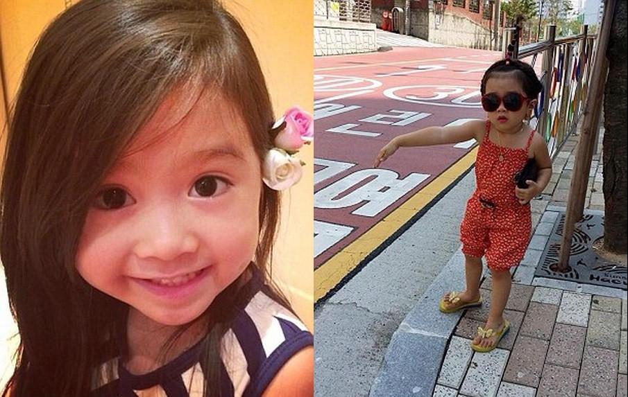 组图:韩国5岁混血萝莉爆萌照走红 成迪拜土豪座上宾