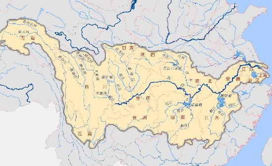 扫把绘 三峡手绘地图