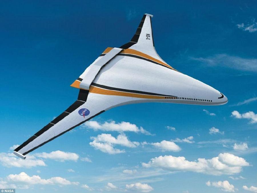 采用翼身融合设计,即机翼与机身无缝融合