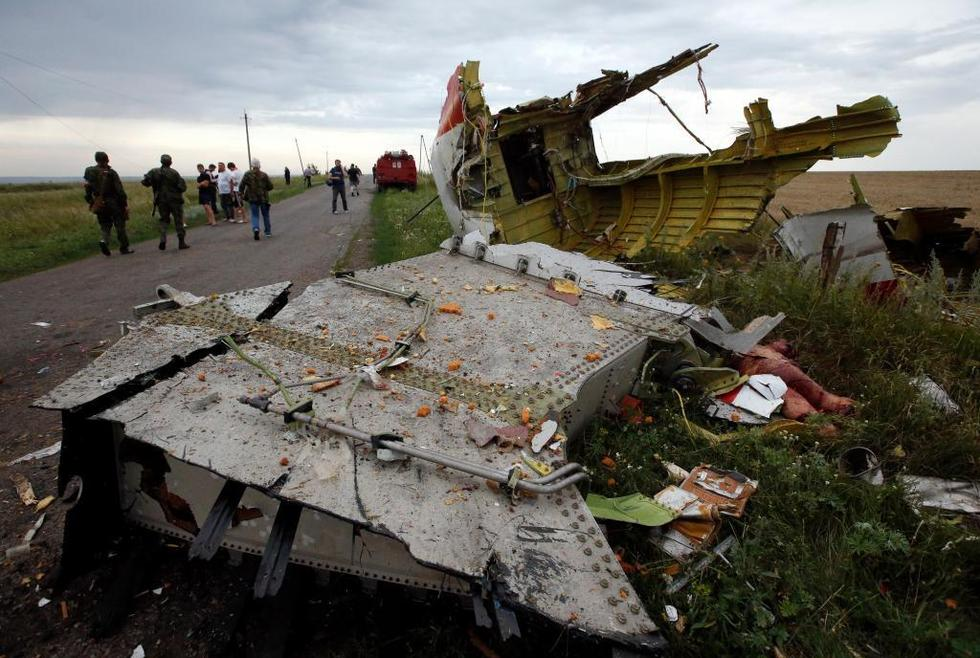 马航客机在乌克兰被击落现场