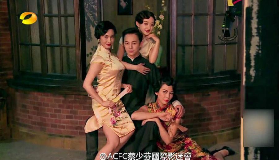 何炅,蔡少芬,朱茵和赵丽颖.图片