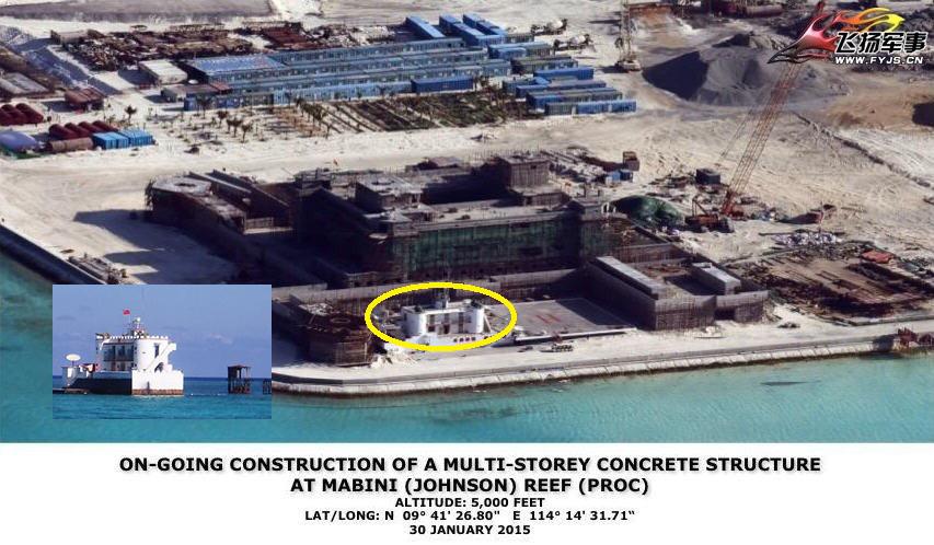 我南沙扩建岛屿与原有礁堡对比:差别实在太大