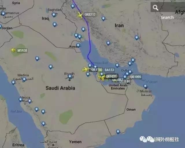 中东地理位置地图