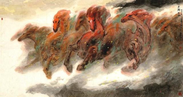 看到袁烈州画的马  实在震撼