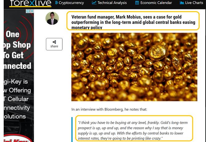 [观点]全球央行会议触及黄金或重现低买入机会