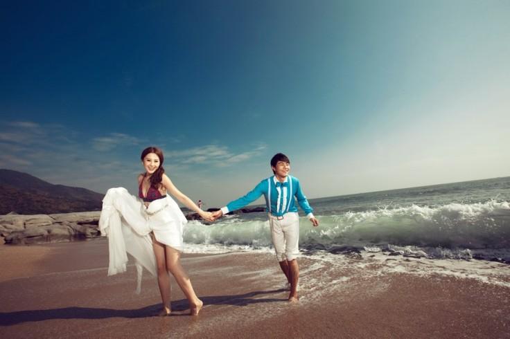 三亚婚纱摄影防骗攻略,三亚海景婚纱照清凉一夏