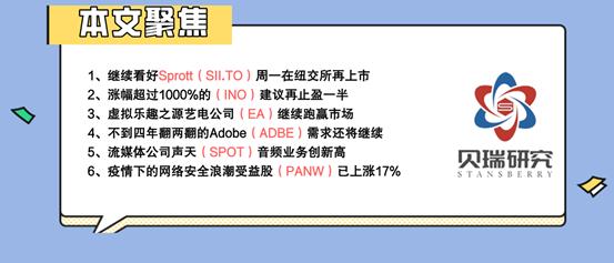EA、ADBE、SPOT、PANW 简评|每周美股