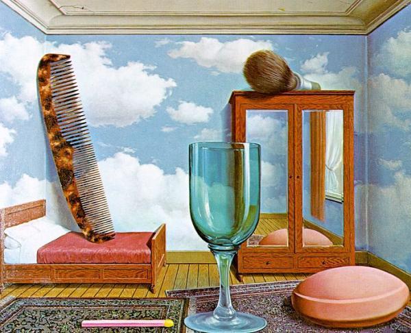 马格利特的超现实主义画作