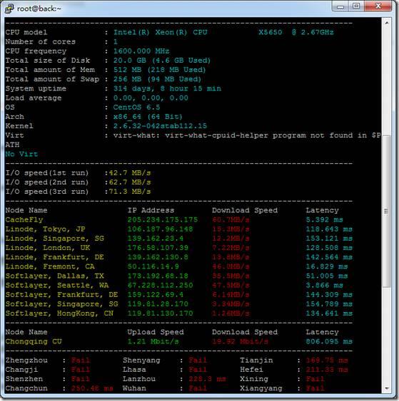 羊毛党之家 Linux VPS一键测试脚本:ZBench.sh