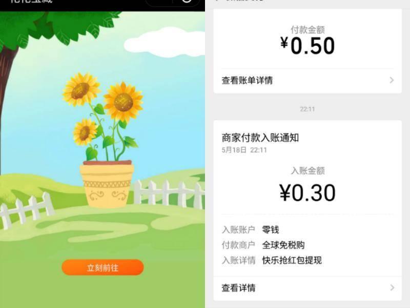 羊毛党之家 微信小程序花花宝藏送0.3元微信红包 https://yangmaodang.org